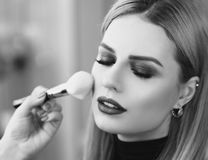 Make up process Stock Images