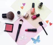 Make up products Stock Image