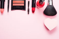Make up products and tools Stock Image