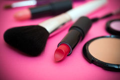 Make up products and tools Royalty Free Stock Photography