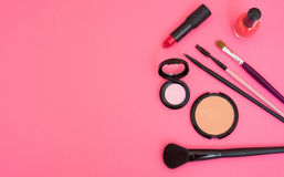 Make up products and tools Royalty Free Stock Images