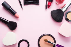 Make up products and tools Royalty Free Stock Photos