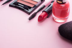Make up products and tools Royalty Free Stock Photo