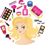 Make up products Royalty Free Stock Images