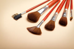 Make up  - Professional brushes Stock Photo