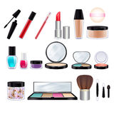 Make-up realistic icons set. Stock Image