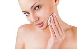Make-up removal royalty free stock images