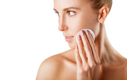 Make-up removal royalty free stock photos