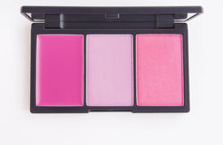 Make-up, rosa Tonrougepalette Stockbild