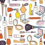 Make Up Seamless Pattern Stock Images