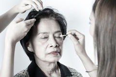Make-up senior woman Stock Photography
