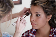 Make-up session Royalty Free Stock Photography