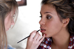 Make-up session Stock Photography