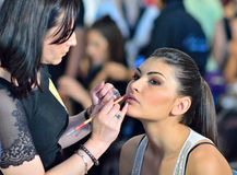 Make-up session Royalty Free Stock Images