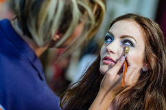 Make-up session Royalty Free Stock Photos