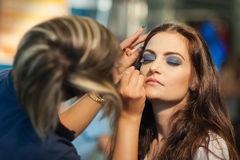 Make-up session Royalty Free Stock Photo