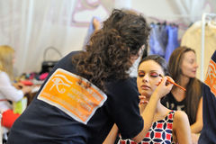 Make-up session Stock Image