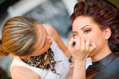 Make up session on Hair & Make Up Fest Royalty Free Stock Images