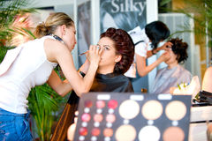 Make up session on Hair & Make Up Fest Royalty Free Stock Photos