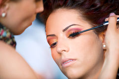 Make up session on Hair & Make Up Fest Royalty Free Stock Photography