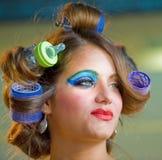 Make up session on Hair & Make Up Fest Royalty Free Stock Image
