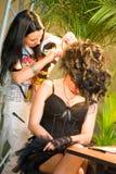 Make up session on Hair & Make Up Fest Stock Images