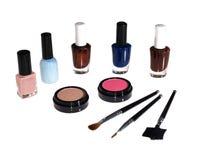 Make-up Set. Multi-colored make-up set isolated on white Stock Photo
