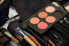 Make up set. Set of professional make up equipments Stock Images