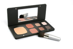 Make up set. With mirror and brush Royalty Free Stock Image