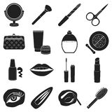 Make up set icons in black style. Big collection of make up vector illustration symbol. Royalty Free Stock Image