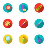 Make up set icons in flat style. Big collection of make up vector symbol stock illustration Royalty Free Stock Image