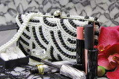 Make up set with jewelry and accessories Royalty Free Stock Photo