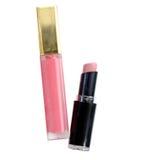 Make-up set for lips. Lipstick and lip gloss. Make-up set for lips. Lipstick and lip gloss Royalty Free Stock Image
