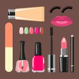Make up set with luxury accessorizes Stock Images