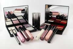 Make Up set with nail polish. Photo of Make Up set with nail polish Stock Photos