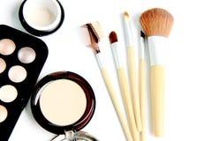 Make up set on white background. The Make up set on white background royalty free stock photo