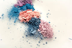 Make up shade icecream colour. Blue purble pink loose color shades on white background Royalty Free Stock Photo