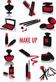 Make-up silhouettes Stock Image