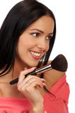 Make up of a smiling woman Stock Image