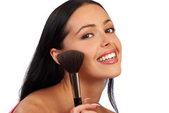 Make up of a smiling woman Stock Photography