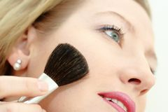 Make-up of smiling woman face. Close up of a smiling woman Royalty Free Stock Photo