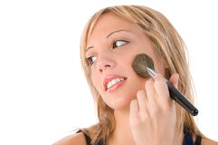 Make up of smiling young woman face Stock Photography