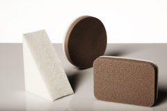 Make-up sponges Stock Images