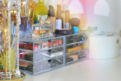 Make up storage Royalty Free Stock Photography