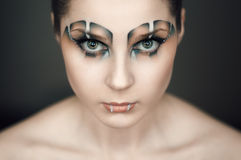 Make-up in the style of the Raptor Royalty Free Stock Images