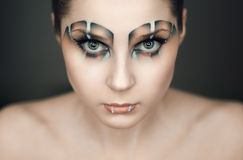 Make-up in the style of the Raptor Stock Photography