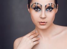 Make-up in the style of the Raptor Royalty Free Stock Photos