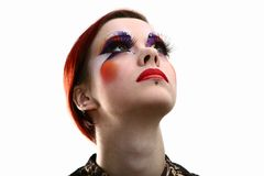 Make up taking bachkstage m Royalty Free Stock Images