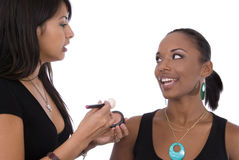 Make-up talk. Stock Image