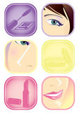 Make-up tips Royalty Free Stock Photography